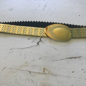 80's stretchy Silver & Gold belt